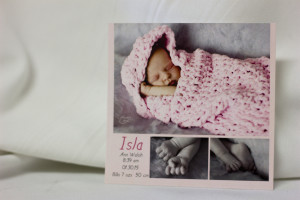 Baby-Birth Announcement-Card---Single-Side-Colour